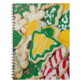 Decorated Frosted Homemade Christmas Sugar Cookies Notebooks