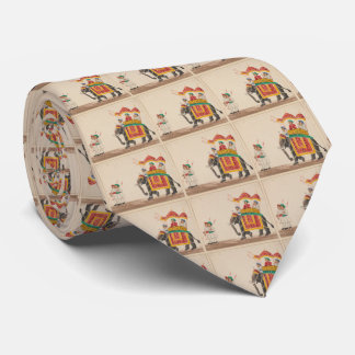 Decorated Indian Elephant with a Canopied Howdah Tie