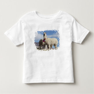Decorated lama herd in the Puna, Andes mountains Toddler T-Shirt