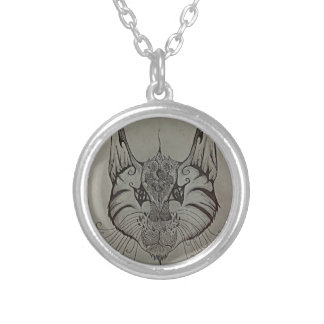 Decorated Lynx Silver Plated Necklace
