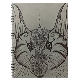 Decorated Lynx Spiral Notebook