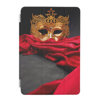 Decorated mask for masquerade on red velvet iPad mini cover