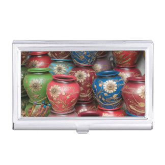 Decorated Pots, Huaraz, Cordillera Blanca Business Card Holder