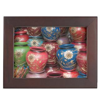Decorated Pots, Huaraz, Cordillera Blanca Keepsake Box