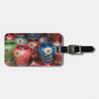 Decorated Pots, Huaraz, Cordillera Blanca Luggage Tag
