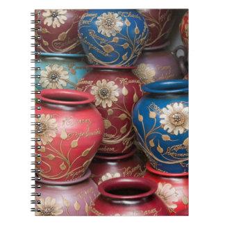 Decorated Pots, Huaraz, Cordillera Blanca Spiral Notebook
