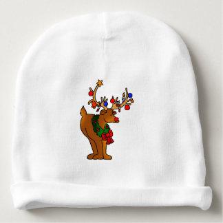 Decorated Reindeer Baby Beanie