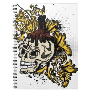Decorated skull design note books