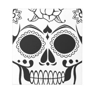 Decorated skull notepad