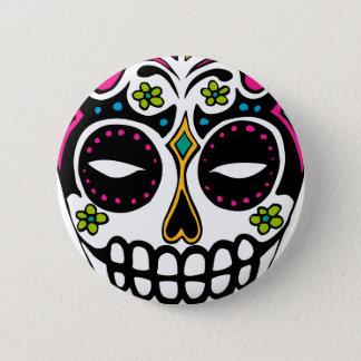 Decorated Sugar Skull 6 Cm Round Badge