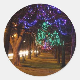 Decorated Trees Round Sticker