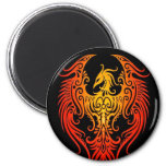 Decorated Tribal Phoenix 6 Cm Round Magnet