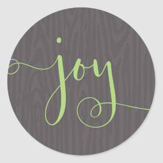 Decorated with Joy Gray/Green Christmas Seal