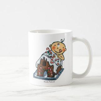 Decorating a Gingerbread House for Christmas Coffee Mug