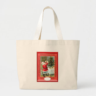 Decorating Santa s Christmas tree Tote Bags