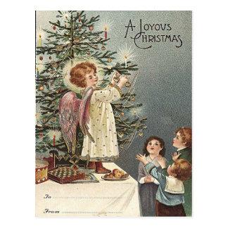 Decorating the Christmas Tree -vintage Christmas Postcard