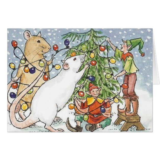 Decorating the Ratty Tree Card