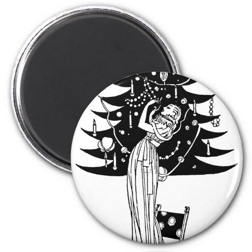 Decorating the Tree in Black and White Magnets