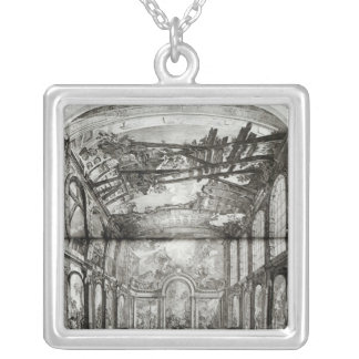 Decoration of the chapel of the Hospice Silver Plated Necklace