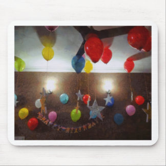 Decorations for a birthday mouse pad