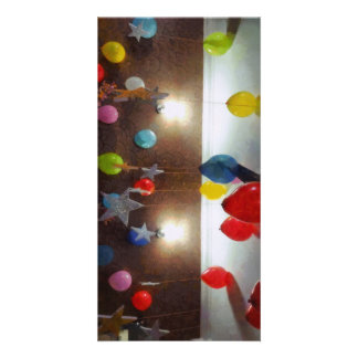 Decorations for a birthday photo card template