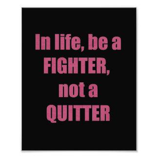 DECORATIONS on KODAK  Wisdom: LIFE Fighter Quitter Photo