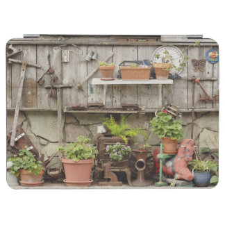 Decorations on wooden fence, Catalina Island, iPad Air Cover