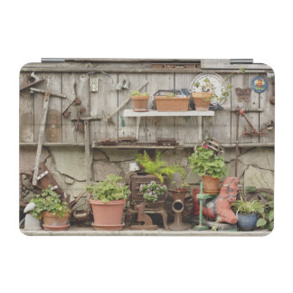 Decorations on wooden fence, Catalina Island, iPad Mini Cover