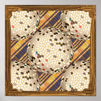 Decorations - Silver Silken Balls on a Mat Poster