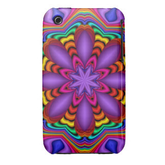 Decorative abstract case with Fantasy Flower iPhone 3 Covers