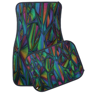 Decorative Abstract Design Set of 4 Car Mats