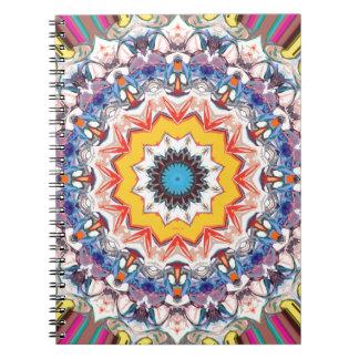 Decorative Abstract Design Spiral Notebooks