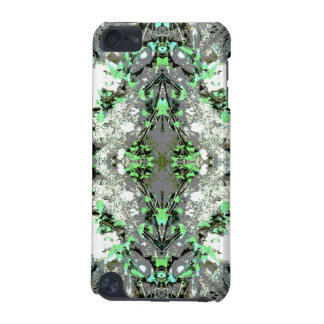 Decorative Abstract in Gray and Green. iPod Touch (5th Generation) Cover