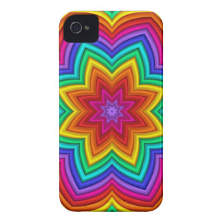 Decorative abstract iPhone 4 case Rainbow Star