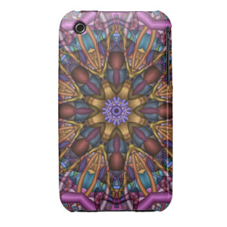 Decorative Abstract kaleidoscope Case-Mate iPhone 3 Cases