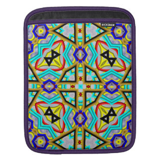 Decorative abstract pattern iPad sleeve