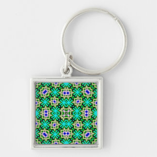 Decorative abstract pattern keychains