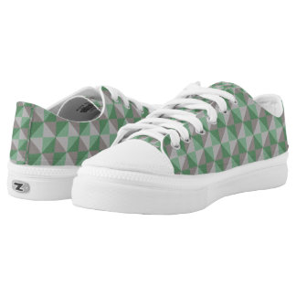 Decorative abstract square and triangle pattern low tops