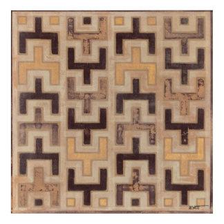 Decorative African Mudcloth Pattern Acrylic Print