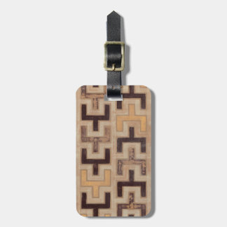 Decorative African Mudcloth Pattern Luggage Tag