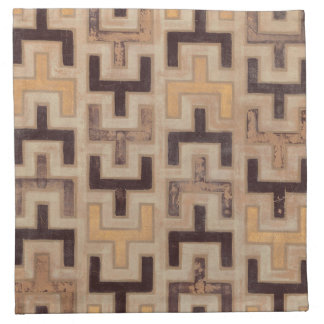 Decorative African Mudcloth Pattern Napkin