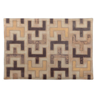 Decorative African Mudcloth Pattern Placemat