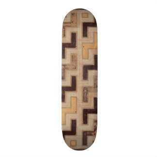 Decorative African Mudcloth Pattern Skateboard Deck