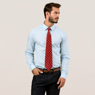 Decorative Albanian Flag Satin Stripe Tie