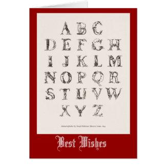 Decorative Alphabet 1825 Card