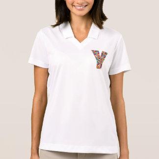 Decorative ALPHABET ART on Clothing  y yy yyy Shirt