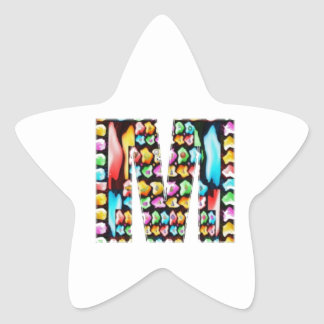 Decorative Alphabets - Party Giveaway Star Sticker
