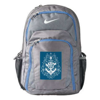 Decorative Anchor custom monogram backpacks