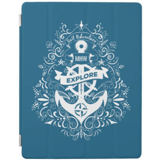 Decorative Anchor custom monogram device covers iPad Cover