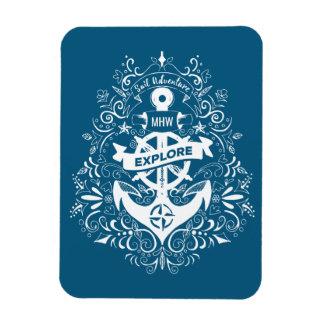Decorative Anchor custom monogram magnet